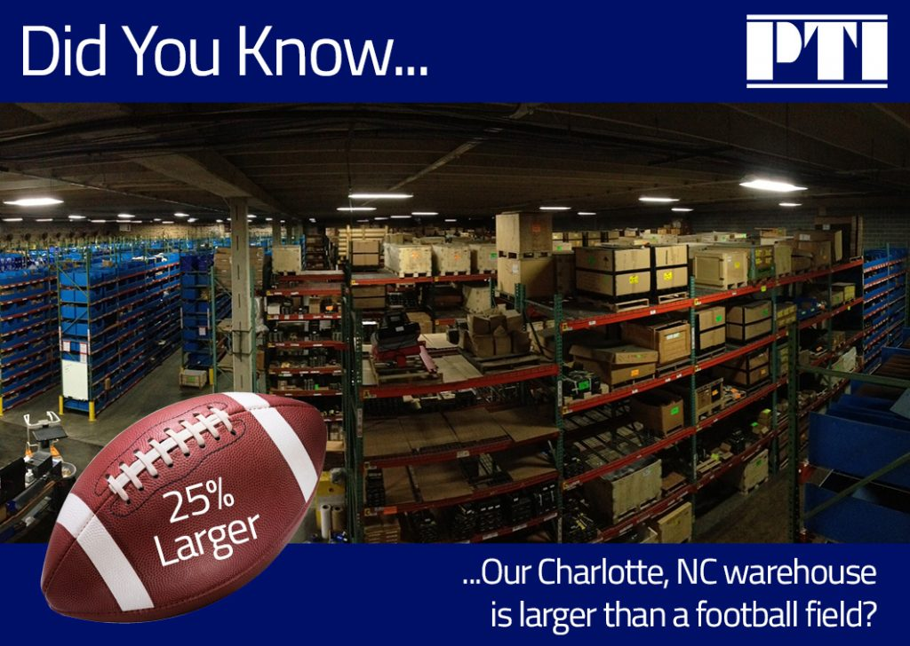 Did You Know Our Warehouse is 25% Larger Than a Football Field?