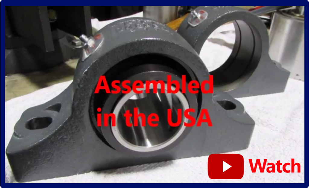 WATCH: Spherical Mounted Roller Bearings – Assembled in the USA