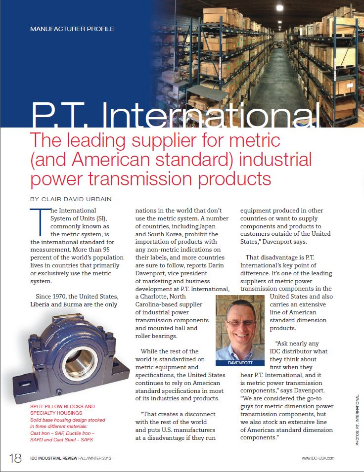 Throwback Thursday: PTI Featured as Leading Supplier in 2013 Article