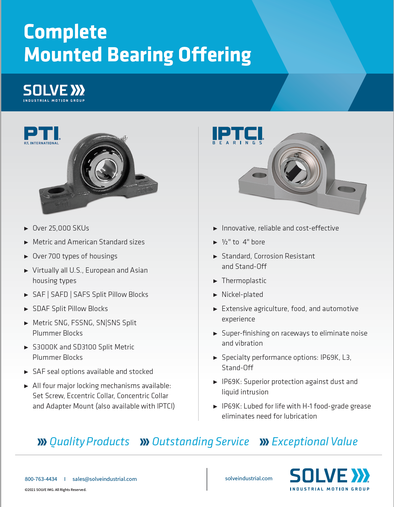 Solve Complete Mounted Bearing Offering brochure